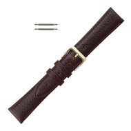 Leather Watch Band 16MM Brown Polished Calf