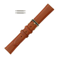 Leather Watch Band 18MM Honey Color Classic Oilskin
