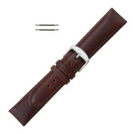 22MM Brown Leather Watch Band Oilskin Chrono