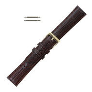 Brown Leather Watch Band Teju Grain 20MM