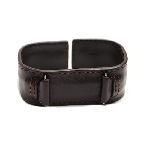 Leather Watch Band 18 MM Brown Leather Retro Cuff Style Band