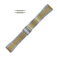 Watch Band 18 MM Two Tone Stainless Steel Flat Jubilee Style