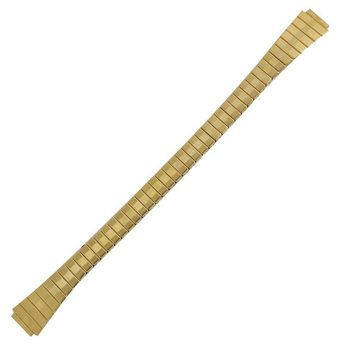 9mm gold tone stainless steel expansion style ladies watch band