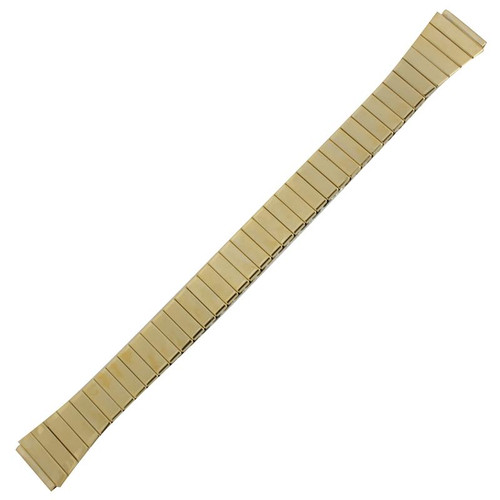 13 MM gold tone stainless steel expansion ladies watch band