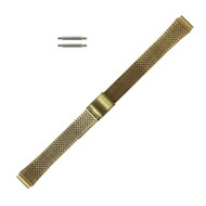 Ladies Watch Band 11 MM Gold Tone Stainless Steel Flat Jubilee Look