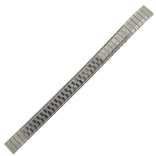9MM silver tone stainless steel ladies watch band expansion