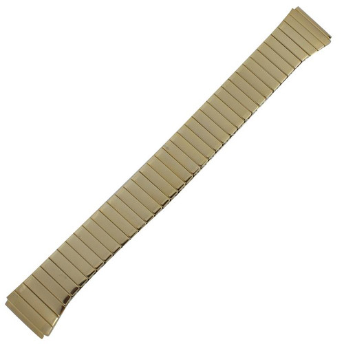 18 MM gold tone stainless steel men's watch band