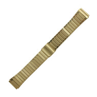 Tapered Watch Band 18 MM Gold Tone Stainless Steel Classic Style Links
