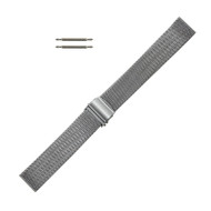 Watch Band 17.25 MM Silver Tone Stainless Steel Mesh Style