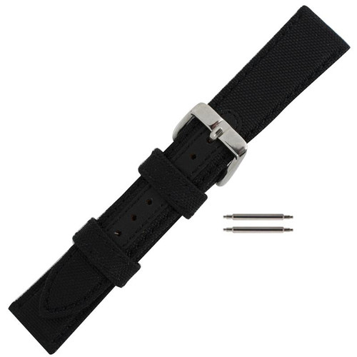 18MM black Robosport ballistic mens watch band