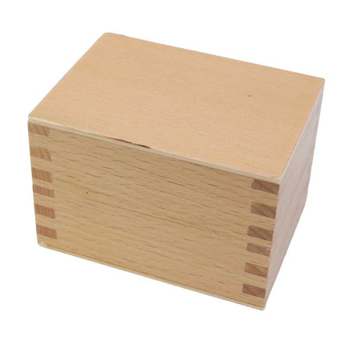Bur and Mandrel Wood Storage Box With Cover