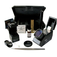 Portable gemological kit includes tools for professional gem identification
