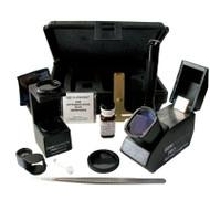 Portable gemological kit includes tools for professional gem identification