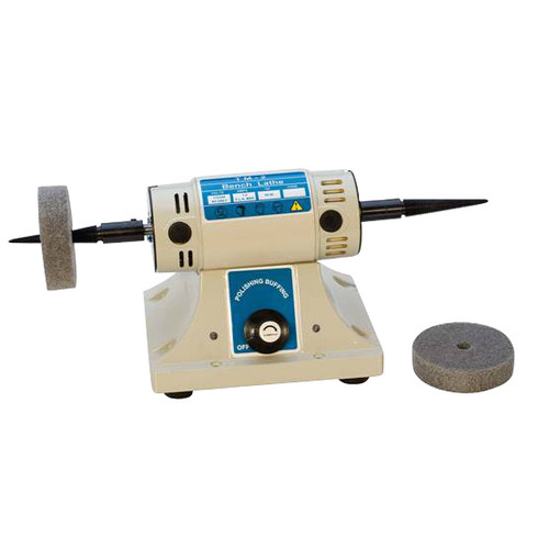Benchtop jewelry polishing motor featuring 1/6 HP variable speed settings