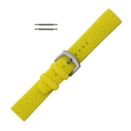 Silicone Watch Band 22MM Yellow Sport Watch Band Rubber Jelly
