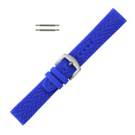 Silicone Watch Band 22MM Blue Sport Watch Band Rubber Jelly