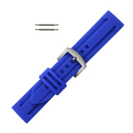 Silicone Watch Band 18MM Blue Sport Watch Band Rubber Jelly