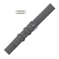 18MM Leather Watch Band Gray Flat Lizard Grain