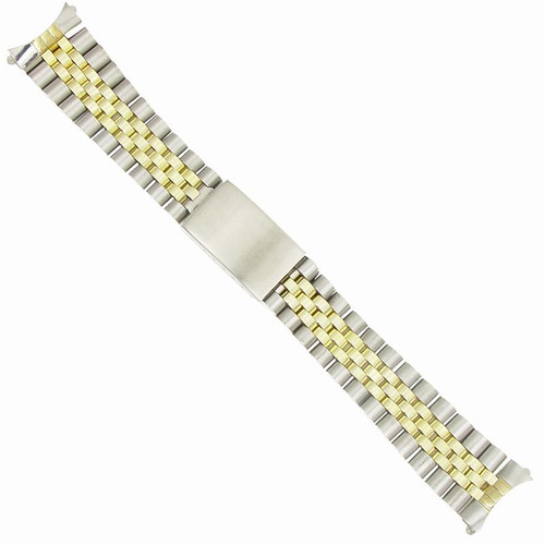 20 mm generic two tone stainless steel rolex watch band