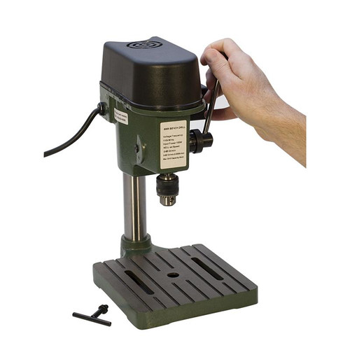 Bench-top miniature multi-speed drill press for 8500rpm max drill