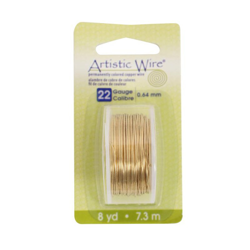 Artistic wire 22 gauge brass color non tarnish copper for 22 gauge craft wire