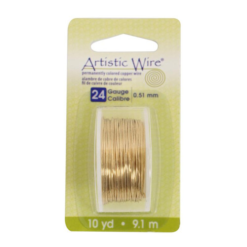 Artistic wire 24 gauge brass color non tarnish copper for 24 gauge craft wire