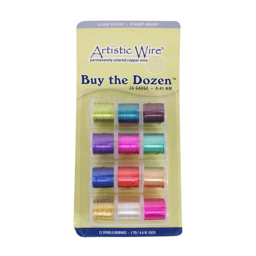 26 gauge silver plated colored copper craft wire