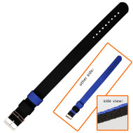 22mm nylon blue and black reversible watch strap