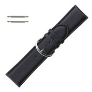 Leather Watch Band 28MM Black Leather Classic Grain Extra Wide Band