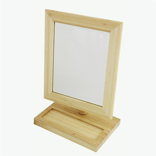 "10 x 6"" large wood rectangular mirror"