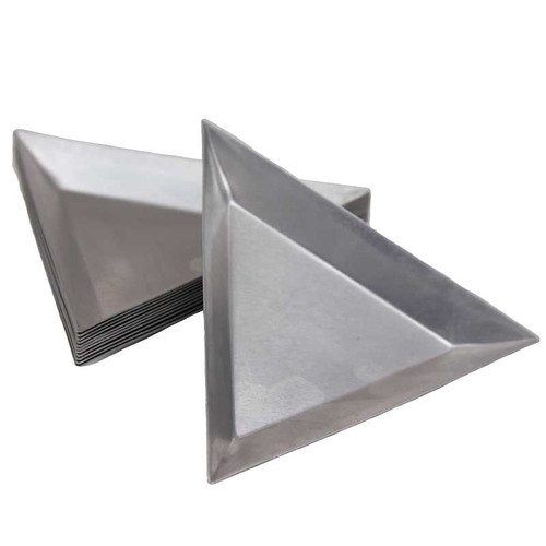Small Aluminum Parts : Small triangular aluminum parts trays inches set of