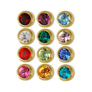 Studex assorted bezel ear piecing studs