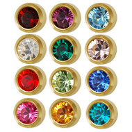 Studex birthstone bezel ear piercing studs