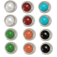 Stainless Steel Studex Ear Piercing Studs Bezel Set Assorted Pearls 3.0mm