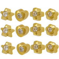 Studex Ear Piercing Studs Assorted Shapes 3.90mm with Crystal
