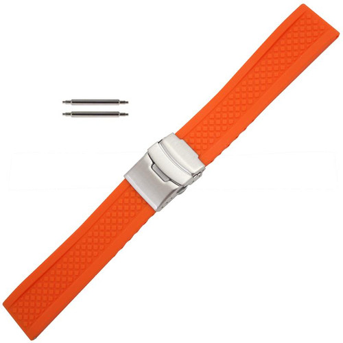 Silicone Watch Band Orange
