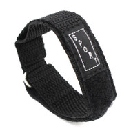 Black Nylon Watch Strap Velcro Style Sport Band 16mm