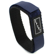 Nylon Watch Strap Velcro Style Sport Band 20mm Blue