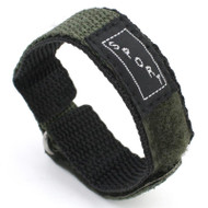 Green Nylon Watch Strap Velcro Style Sport Band 16mm