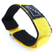 Black and Yellow Nylon Watch Strap Velcro Style Sport Band 16mm