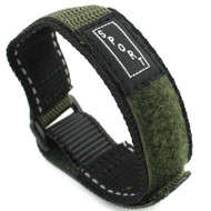 Green Nylon Watch Strap Velcro Style 20mm Watch Band