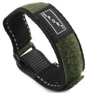Green Nylon Watch Strap Velcro Style 20mm Watch Band