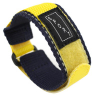 Blue And Yellow Nylon Watch Strap Velcro Style Sport Band 20mm