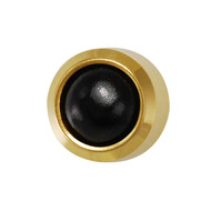 Studex Ear Piercing Studs Onyx Bezel Set 3.0mm