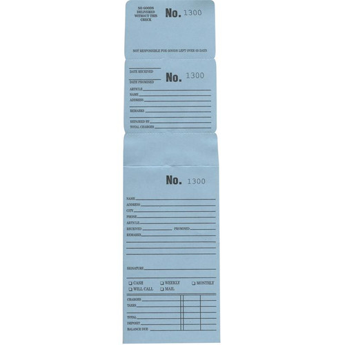 Triple Duty Repair Envelope 3 x 5.75 blue with layaway box of 1000