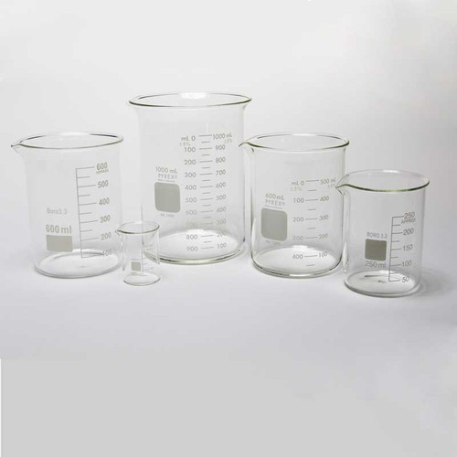 Grobet USA Glass Beakers Jewelry Plating and Cleaning 3 Sizes Available