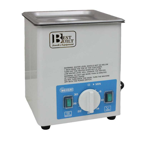 Best Built Ultrasonic Jewelry Cleaner 2 Qt 1/2 Gallon Stainless Steel Tank with Heater and Timer