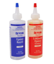 Devcon High-Strength 5 Minute Epoxy 1500psi 9oz in 2 Bottles