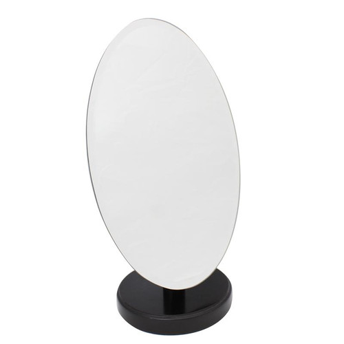 Adjustable Mirror Wooden Base Walnut Finish