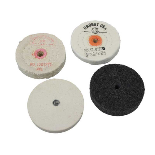 Polishing, Buffing and Grinding Wheels for Multi-Grinder Polisher Motor